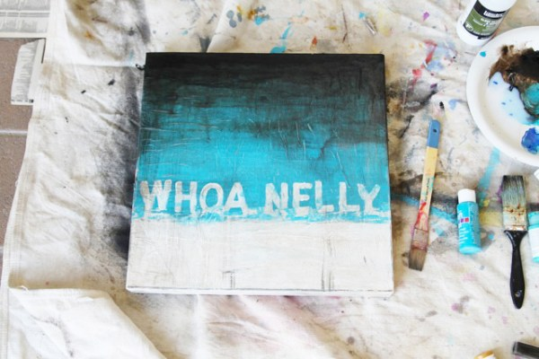 DIY Canvas Art Projects Lil Blue Boo Whoa Nelly