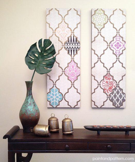 DIY Canvas Art Projects Paint + Pattern