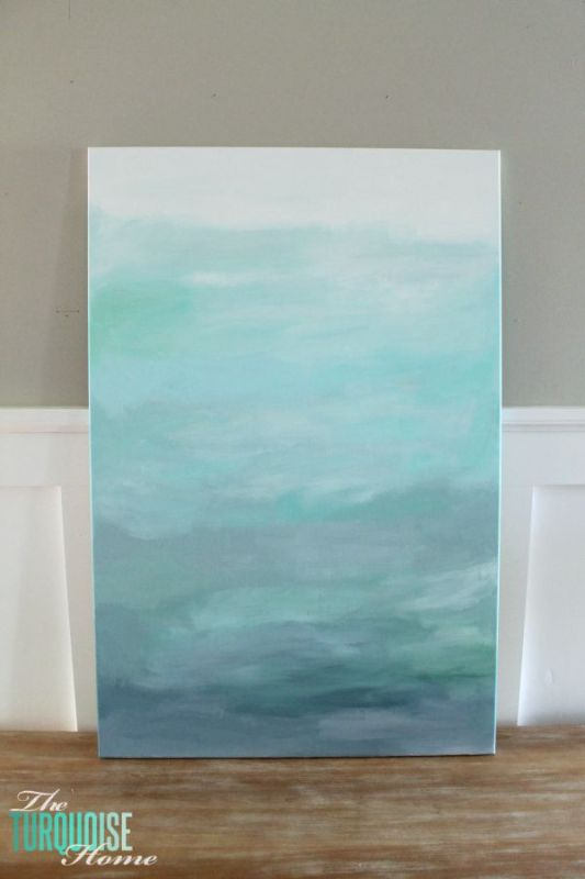 DIY Canvas Art Projects The Turquoise Home