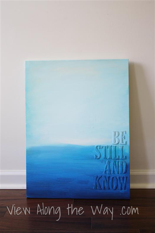 DIY Canvas Art Projects View Along The Way