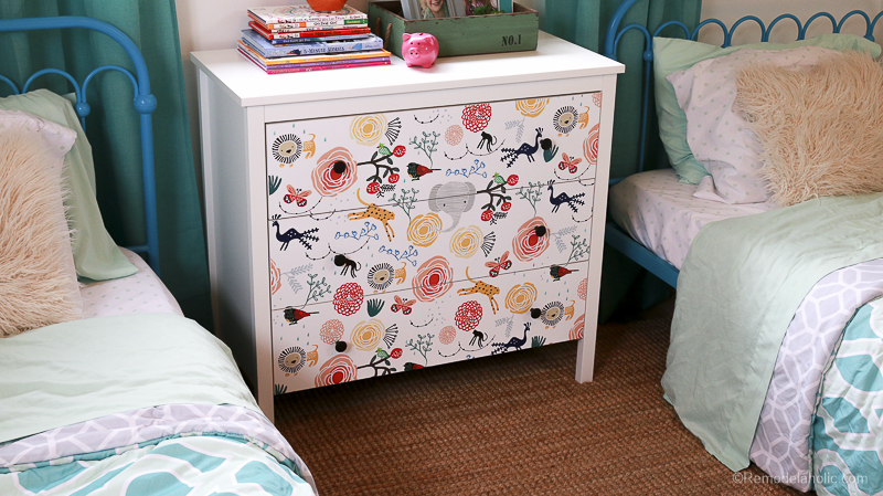 DIY Ikea Dresser Hack Updating With Wallpaper @remodelaholic 9