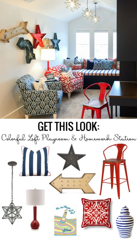 Get This Look Colorful Loft Playroom And Homework Station