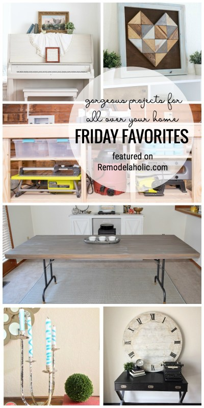 Gorgeous projects for all over your home. Friday Favorites featured on Remodelaholic.com