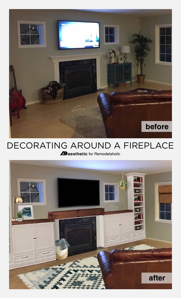 Decorating around a Fireplace | Fireplace Built-in Shelving