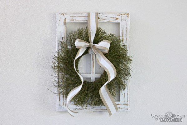Rustic Window Frame By Sawdust2Stitches For Remodelaholic.com
