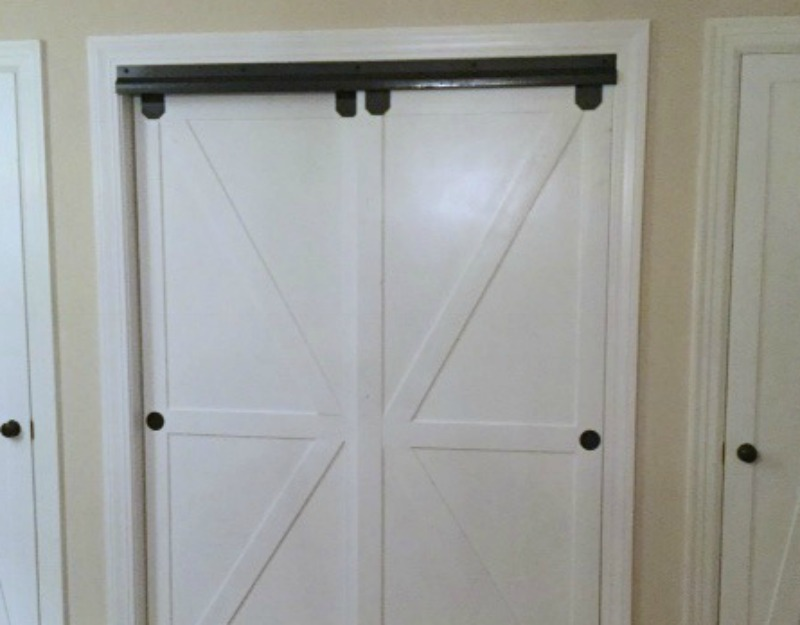 remodelaholic how to make bypass closet doors into sliding fauxhow to make bypass closet doors into sliding faux barn doors