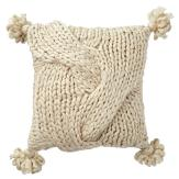Neutral Living Room Chunky Knit Throw Pillow
