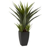 Neutral Living Room Faux Succulent