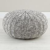 Neutral Living Room Grey Pouf