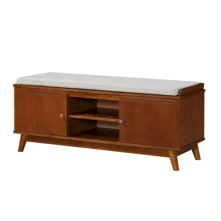 Neutral Living Room Mid Century Modern Entryway Bench