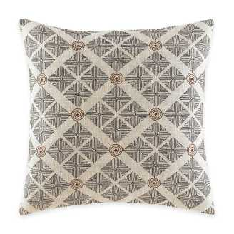 Neutral Living Room Mombasa Square Throw Pillow