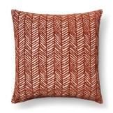 Neutral Living Room Velvet Chevron Pillow