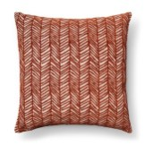 Neutral Living Room Velvet Chevron Pillow