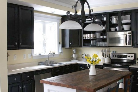 Remodelaholic   Dark Kitchen Cabinet Inspiration and ...