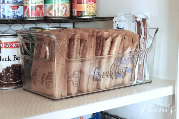 11 Pantry Organization Using Clear Bins, By Refined Rooms Featured On @Remodelaholic