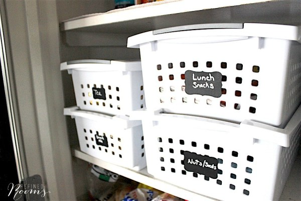 2 Stackable Storage In Well Oganized Kitchen Pantry, By Refined Rooms Featured On @Remodelaholic