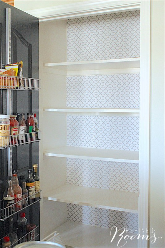8 How To Use Peel N Stick Laminate Shelf Liner As Removable Wall Paper, By Refined Rooms Featured On @Remodelaholic