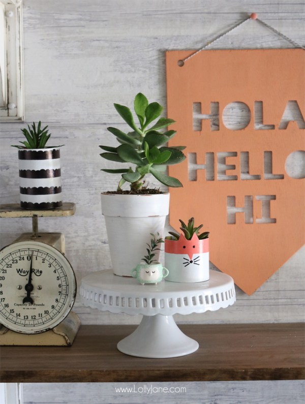 Cereal Box Succulent Planter Fox Tutorial DIY