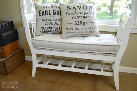 French Style Bench From Old Chairs With Mattress Cushion 650