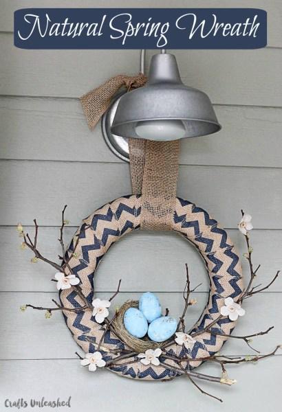 Neutral Spring Wreath With Birds Nest 17 OneKriegerChick 1