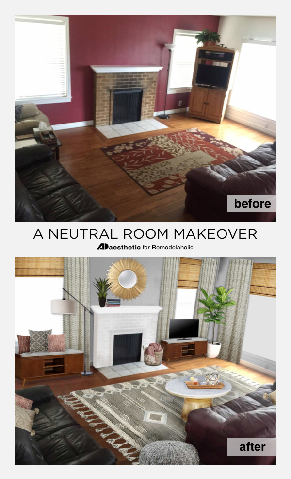 Decorate A Neutral Living While Keeping Your Existing Sofas    And Make A Burgundy  Couch