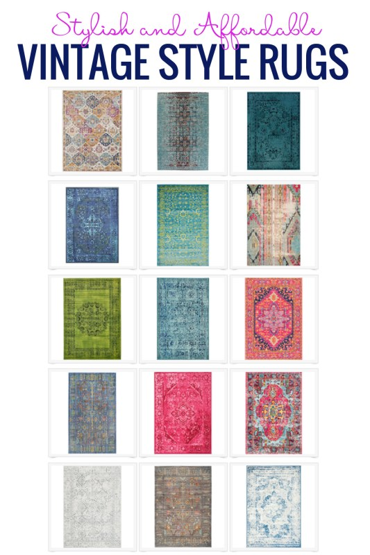 Stylish And Affordable Vintage Style Rugs