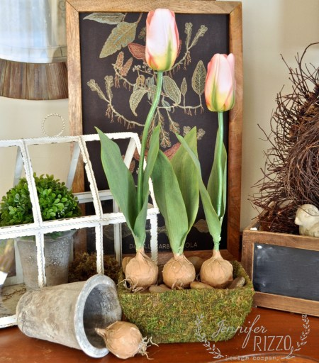 Super Cute DIY Faux Tulip Planter With Fake Bulbs
