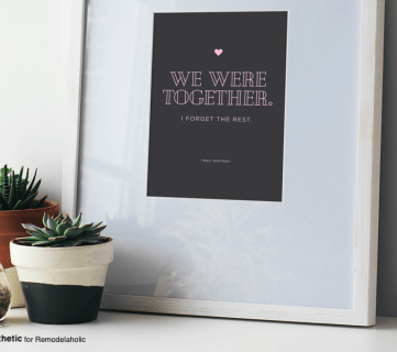 Free Printable: We Were Together