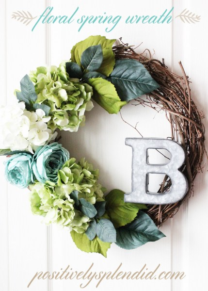 Floral Spring Wreath Title