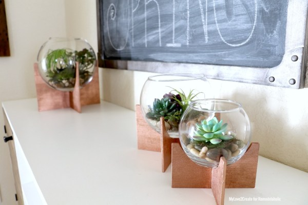 Terrariums With A Diy Cross Base, MyLove2Create