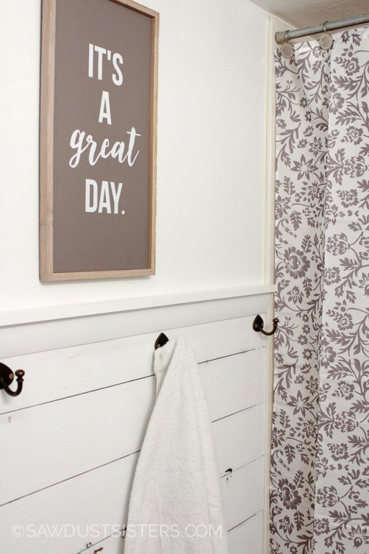 1 DIY Plywood Shiplap Wall, By Sawdust Sisters Featured On @Remodelaholic