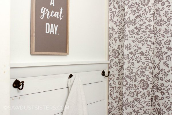 13 Shiplap Wall Built From Plywood, DIY Tutorial, By Sawdust Sisters Featured On @Remodelaholic
