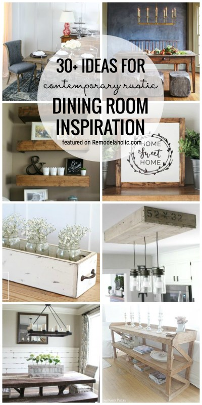 30 Ideas For Contemporary Rustic Dining Room Inspiration
