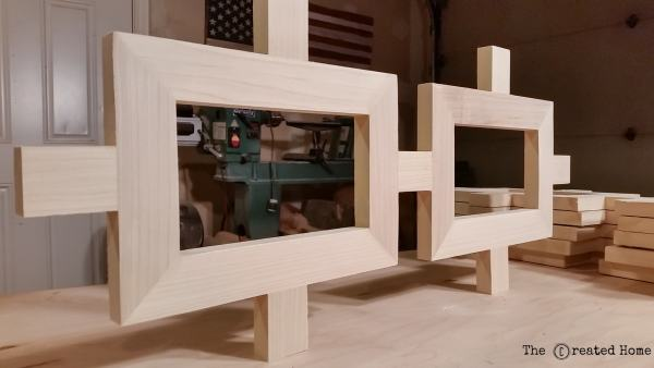 8 DIY Fretwork Console Table With Plywood Top, By The Created Home Featured On @Remodelaholic