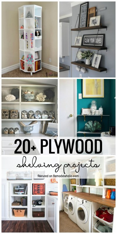 Add Storage To Your Home With One Of These 20+ Fabulous Plywood Shelving Projects Featured On Remodelaholic.com