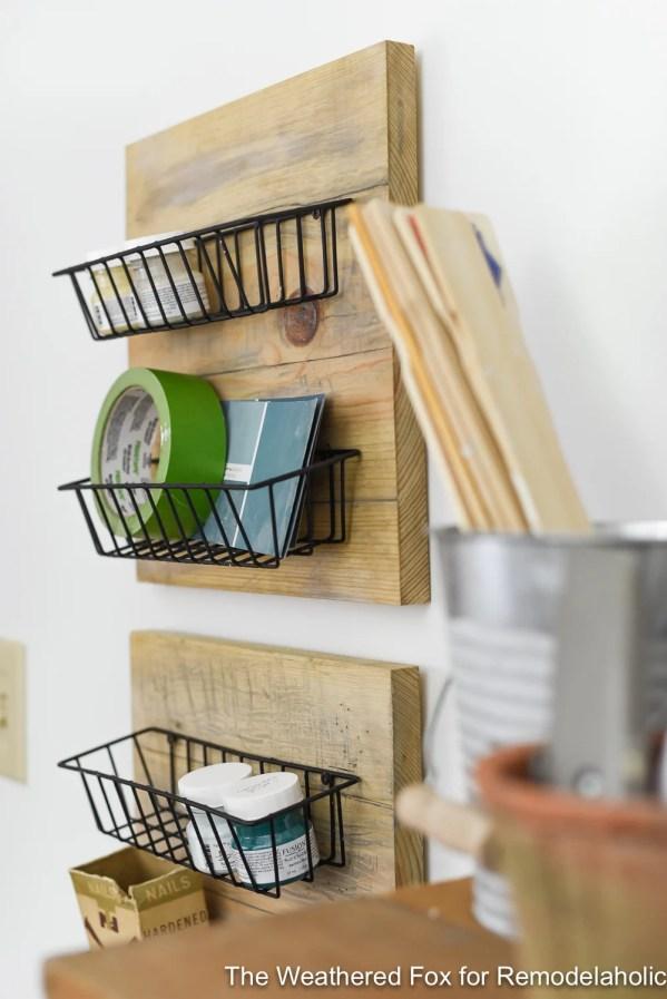DIY Farmhouse Wall Baskets The Weathered Fox 1