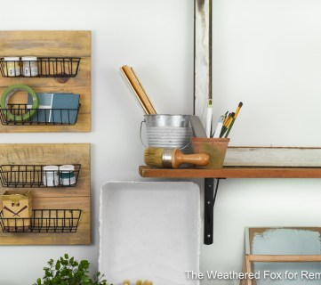DIY Farmhouse Wall Baskets. How To Create Farmhouse Style Wall Baskets With Dollar Store Items. Get This Tutorial From The Weathered Fox On Remodelaholic!