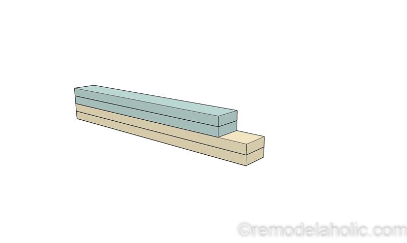 DIY Modern Plywood Bench Tutorial Half Lap Construction @remodelaholic 14