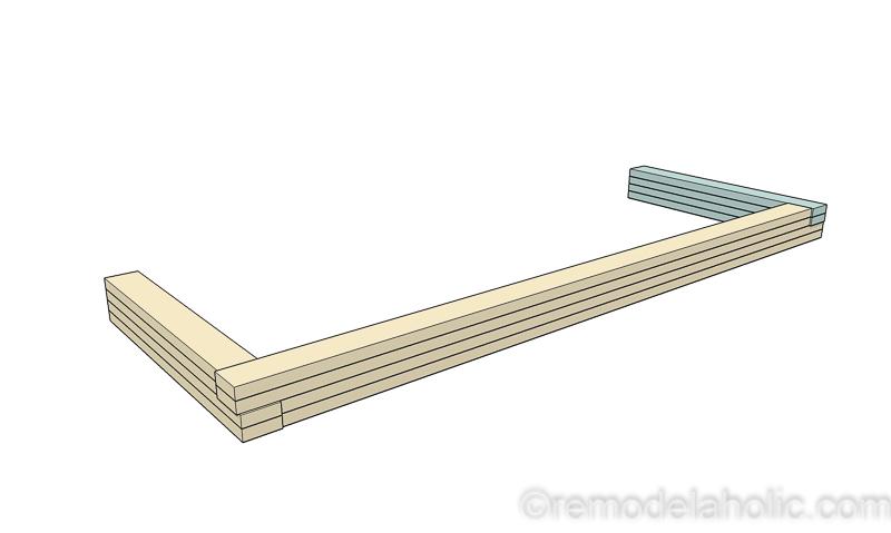 DIY Modern Plywood Bench Tutorial Half Lap Construction @remodelaholic 18