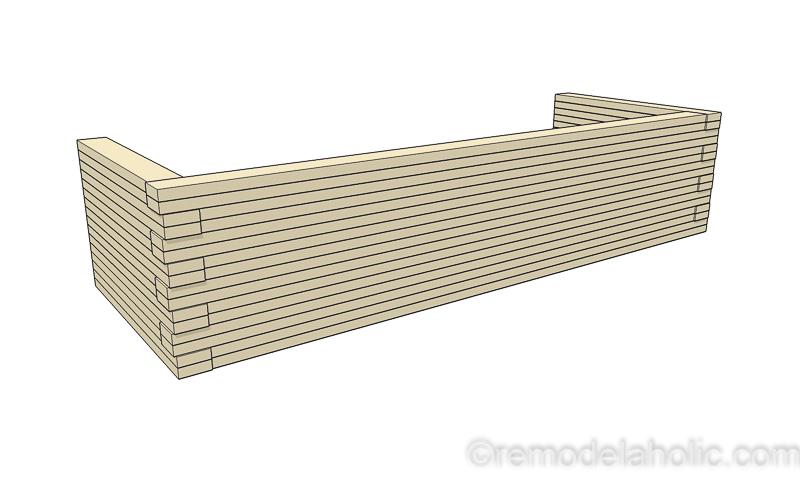DIY Modern Plywood Bench Tutorial Half Lap Construction @remodelaholic 22