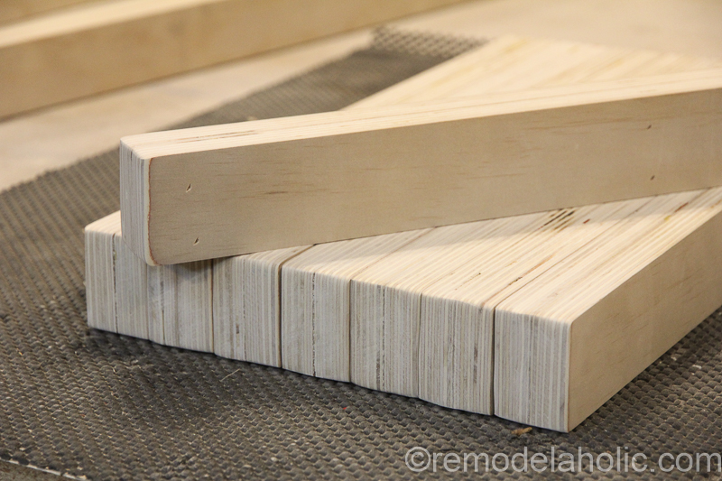 DIY Modern Plywood Bench Tutorial Half Lap Construction @remodelaholic 25
