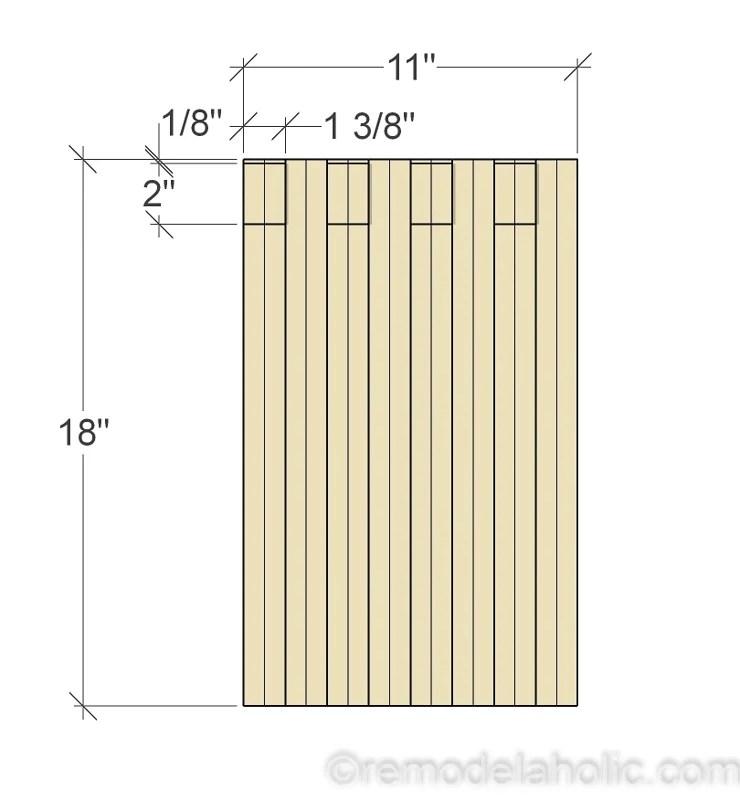 remodelaholic diy modern plywood bench tutorial half lap