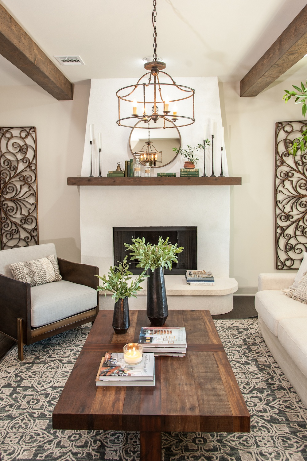 Remodelaholic   Get This Look: Farmhouse Formal Living ... on Living Room:5J0Grrq-Soy= Curtains Design  id=43454