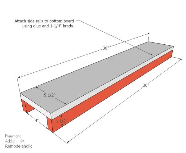 Long Wood Glass Centerpiece Side Rails WM