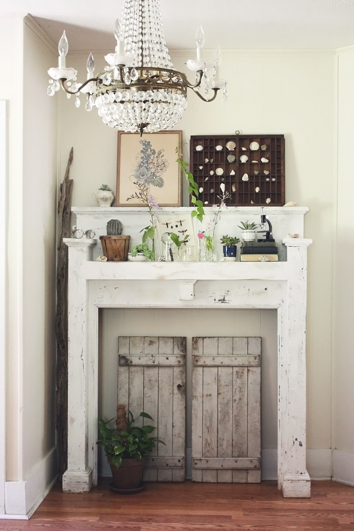 Remodelaholic | No Mantel? No Problem! 25+ Ideas for Fireplace Mantel Alternatives