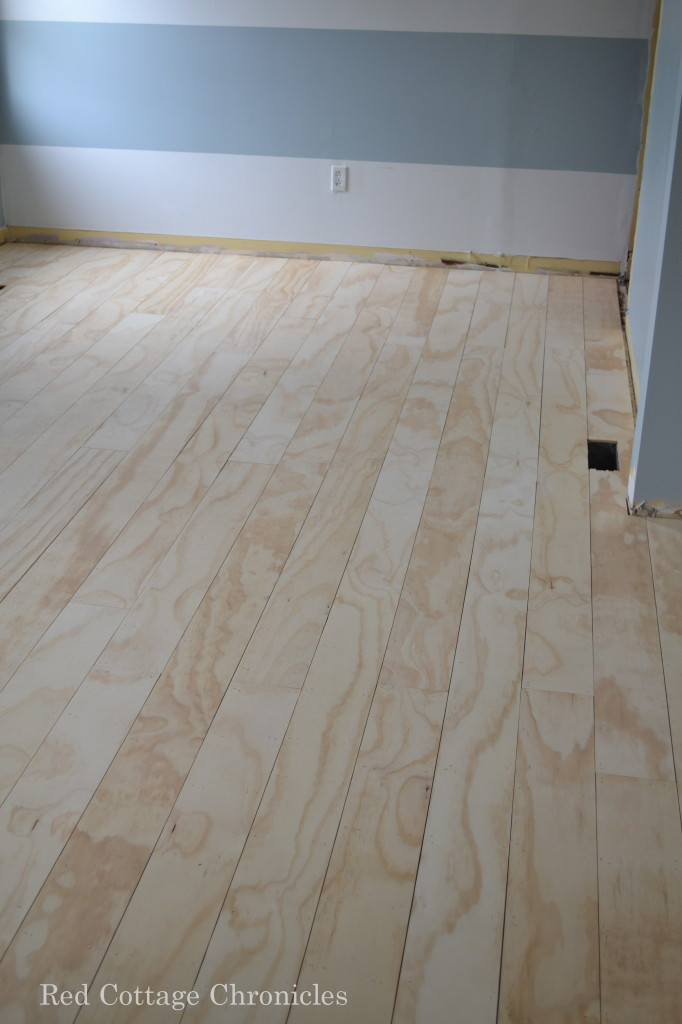 Red Cottage Chronicles Diy Plywood Floors