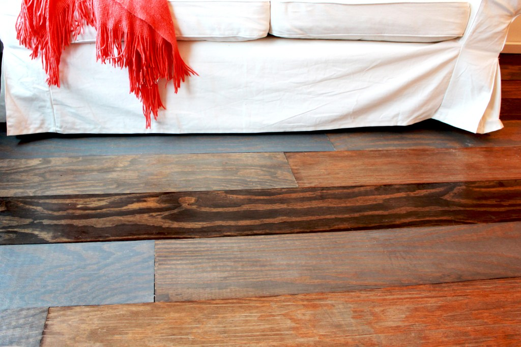 Remodelaholic DIY Plywood Flooring Pros And Cons Tips - What is the cheapest flooring to install