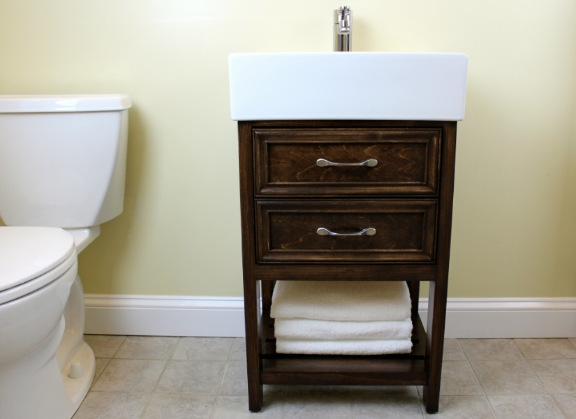 Remodelaholic Ikea Hack How To Build A Small Diy Bathroom