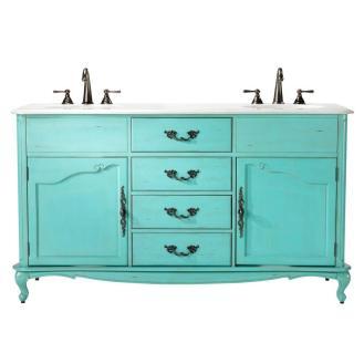 Bold Bathroom Colors 01, Turquoise Aqua Blue Vanity