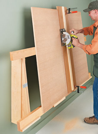 Build A Low Profile Cutting Rack For Plywood, Woodsmith Plans